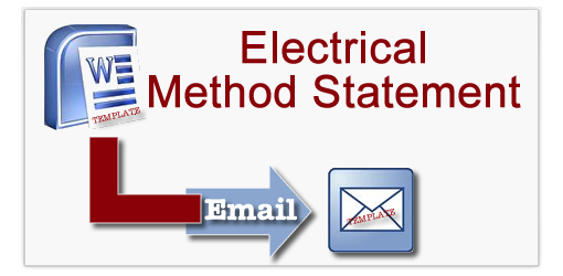 Electrical method statement templates for Electrical installation method statement template free