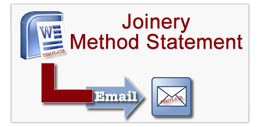 Joinery Method Statement Templates